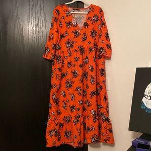 NWT Boohoo Plus Midi Smock Dress US14